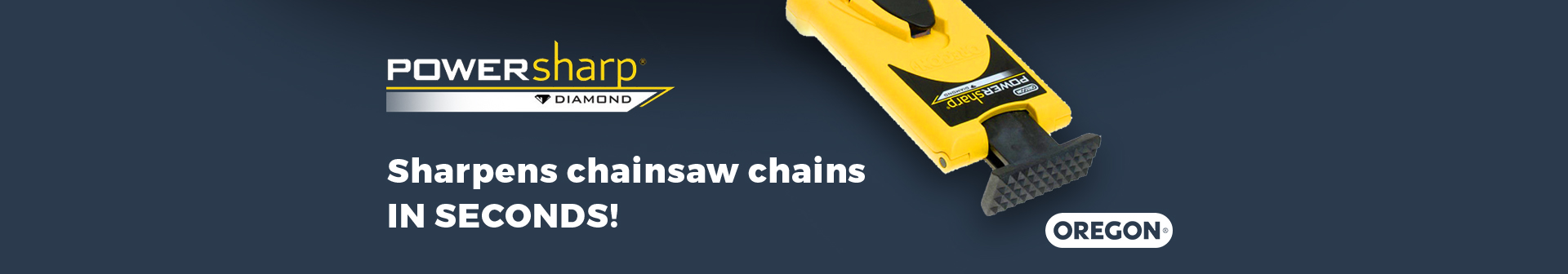 Power Sharp - Shapens Chainsaw Chains in Seconds!